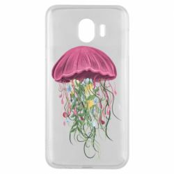 Чехол для Samsung J4 Jellyfish and flowers