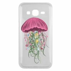 Чехол для Samsung J5 2015 Jellyfish and flowers