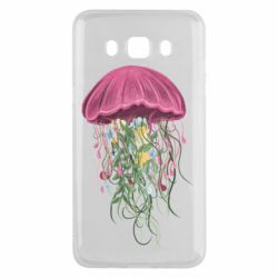Чехол для Samsung J5 2016 Jellyfish and flowers