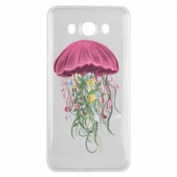 Чехол для Samsung J7 2016 Jellyfish and flowers