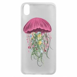 Чехол для Xiaomi Redmi 7A Jellyfish and flowers