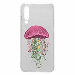Чехол для Xiaomi Mi9 Jellyfish and flowers