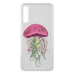 Чехол для Samsung A7 2018 Jellyfish and flowers