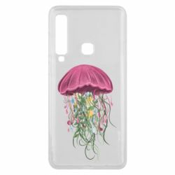 Чехол для Samsung A9 2018 Jellyfish and flowers