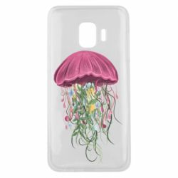 Чехол для Samsung J2 Core Jellyfish and flowers