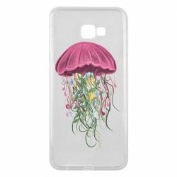 Чехол для Samsung J4 Plus 2018 Jellyfish and flowers