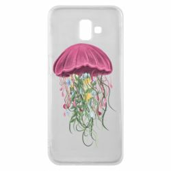 Чехол для Samsung J6 Plus 2018 Jellyfish and flowers