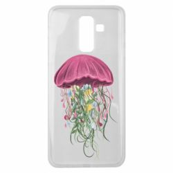 Чехол для Samsung J8 2018 Jellyfish and flowers