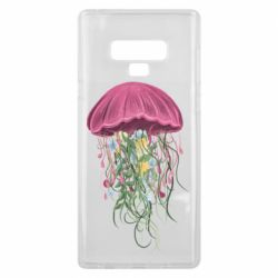 Чехол для Samsung Note 9 Jellyfish and flowers