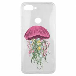 Чехол для Xiaomi Mi8 Lite Jellyfish and flowers