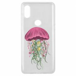 Чехол для Xiaomi Mi Mix 3 Jellyfish and flowers