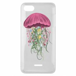 Чехол для Xiaomi Redmi 6A Jellyfish and flowers