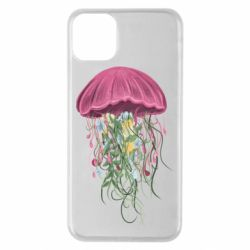 Чехол для iPhone 11 Pro Max Jellyfish and flowers