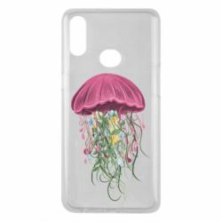Чехол для Samsung A10s Jellyfish and flowers