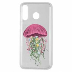 Чехол для Samsung M30 Jellyfish and flowers