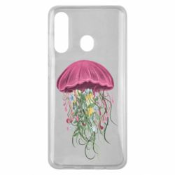 Чехол для Samsung M40 Jellyfish and flowers
