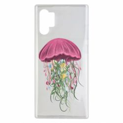 Чехол для Samsung Note 10 Plus Jellyfish and flowers