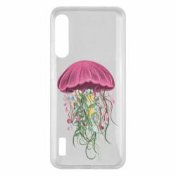 Чохол для Xiaomi Mi A3 Jellyfish and flowers