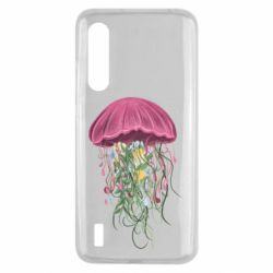 Чехол для Xiaomi Mi9 Lite Jellyfish and flowers