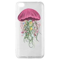 Чехол для Xiaomi Redmi Go Jellyfish and flowers