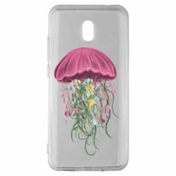 Чехол для Xiaomi Redmi 8A Jellyfish and flowers