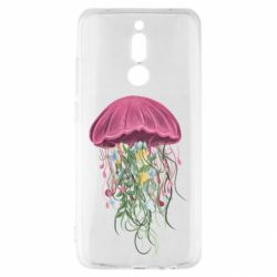 Чехол для Xiaomi Redmi 8 Jellyfish and flowers