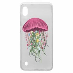 Чехол для Samsung A10 Jellyfish and flowers