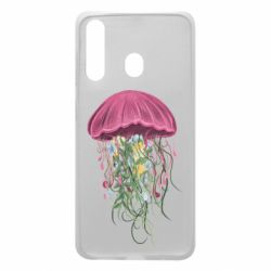 Чехол для Samsung A60 Jellyfish and flowers