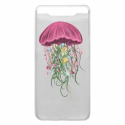 Чехол для Samsung A80 Jellyfish and flowers