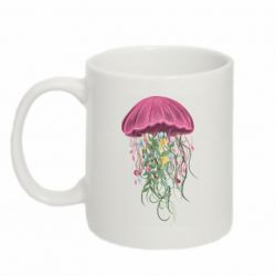 Кружка 320ml Jellyfish and flowers