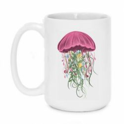 Кружка 420ml Jellyfish and flowers