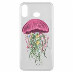Чехол для Samsung A6s Jellyfish and flowers