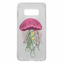 Чехол для Samsung S10e Jellyfish and flowers