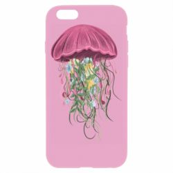 Чехол для iPhone 6/6S Jellyfish and flowers