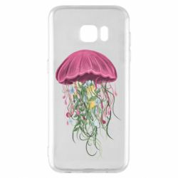 Чехол для Samsung S7 EDGE Jellyfish and flowers