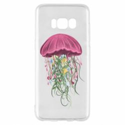 Чехол для Samsung S8 Jellyfish and flowers