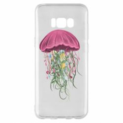 Чехол для Samsung S8+ Jellyfish and flowers