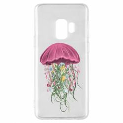 Чехол для Samsung S9 Jellyfish and flowers