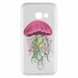 Чехол для Samsung A3 2017 Jellyfish and flowers
