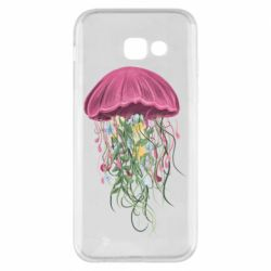 Чехол для Samsung A5 2017 Jellyfish and flowers