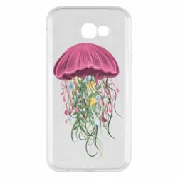 Чехол для Samsung A7 2017 Jellyfish and flowers