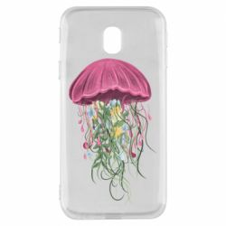 Чехол для Samsung J3 2017 Jellyfish and flowers