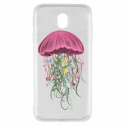 Чехол для Samsung J7 2017 Jellyfish and flowers