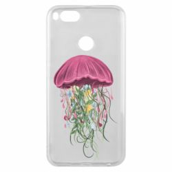Чехол для Xiaomi Mi A1 Jellyfish and flowers