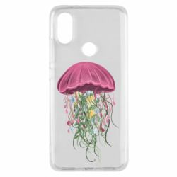 Чехол для Xiaomi Mi A2 Jellyfish and flowers