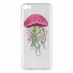 Чехол для Xiaomi Mi5/Mi5 Pro Jellyfish and flowers