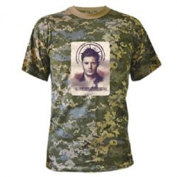 Камуфляжная футболка Jensen Ackles - FatLine