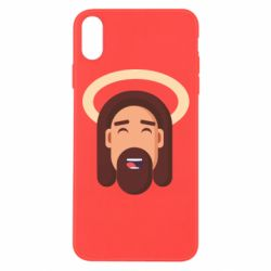 Чехол для iPhone Xs Max Jesus flat vector