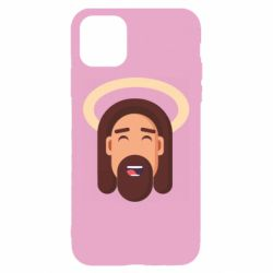 Чехол для iPhone 11 Jesus flat vector