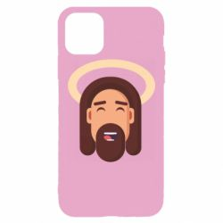 Чехол для iPhone 11 Pro Max Jesus flat vector